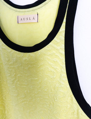Tank Top ⌇ Leopard Pastel Yellow & Black - auslästudio
