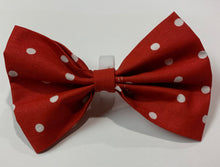 Load image into Gallery viewer, Red Polka Dot Bow - stellas-styles-studio