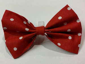 Red Polka Dot Bow - stellas-styles-studio