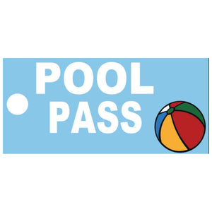 Beach Ball Design Pool Pass Key Tags