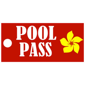 Bright Flower Design Pool Pass Key Tags-Pool Passes-Pro Property Supply