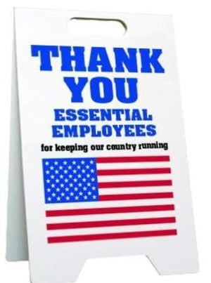 American Flags Thank You All Essential Workers A-Frame Sign Pro Property Supply