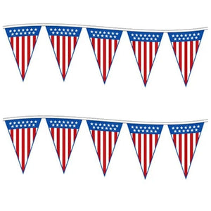 American Flags Triangle Patriotic Designed Pennant Strings Pro Property Supply