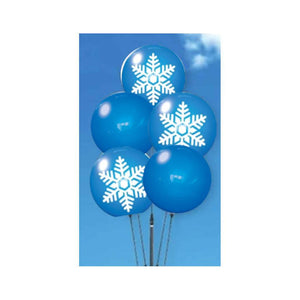 Snowflake Design Reusable Balloon Cluster Set with Ground Spike-balloons-Pro Property Supply