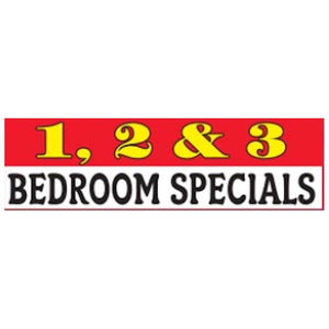 Banners 1, 2 & 3 Bedroom Specials Outdoor Vinyl Banner 3'x10' Pro Property Supply