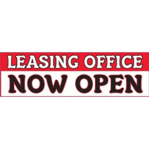 Banners Leasing Office Now Open Outdoor Vinyl Banner 3' x 10' Pro Property Supply