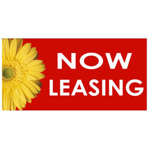 Banners Now Leasing Sunflower Outdoor Vinyl Banner 3'x10' Pro Property Supply