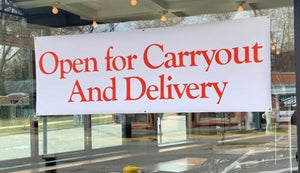 Banners Open for Carryout and Delivery Banner Outdoor Vinyl Banner 3' x 10' Pro Property Supply