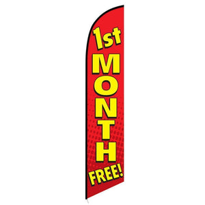 Flags 1st Month Free - Stay Open Swooper Flag Pro Property Supply