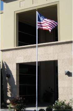 Flags 20' Telescoping Aluminum Flagpole Pro Property Supply
