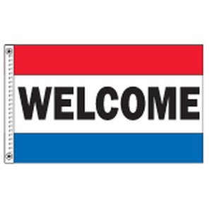 Flags 3' x 5' Welcome Horizontal Message Flag Pro Property Supply