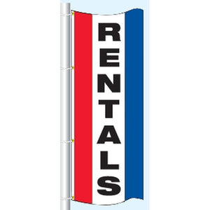 Flags 3 x 8' Rentals Vertical Message Flag Pro Property Supply