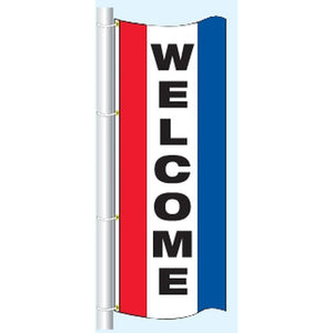 Flags 3' x 8' Welcome Vertical Message Flag Pro Property Supply