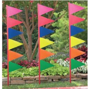 Flags 6ft. Wiggler Pennant and Pole Kits Pro Property Supply