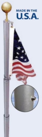 Flags Adjustable Aluminum Flag Pole Set - 21' Pro Property Supply
