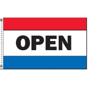 Flags Open 3' x 5' Horizontal Message Flag Pro Property Supply