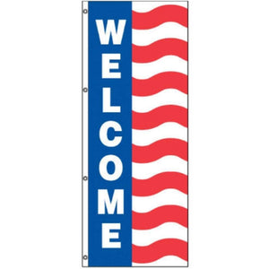 Flags Welcome Uncle Sam Message Flag 3' x 8' Pro Property Supply