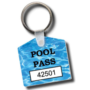 key tags 10100-10199 House Shaped Pool Passes Consecutively Numbered Key Fobs Pro Property Supply