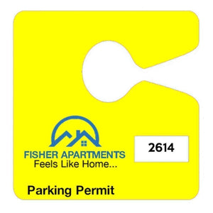 parking permits Custom Hanging Parking Permits 4