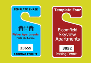 parking permits CUSTOM HANGING PARKING PERMITS - LOOSE FIT - 2.75