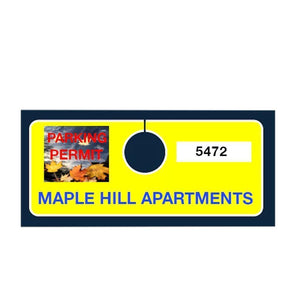 parking permits Hanging Parking Permits - No Obstructive View Pro Property Supply