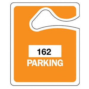 parking permits Orange - Parking Permit Hang Tags Pro Property Supply