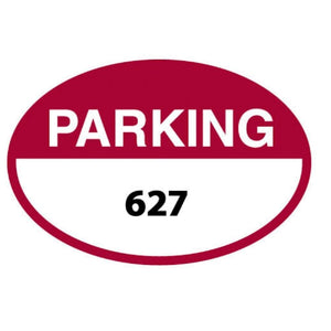 parking permits Red Oval Parking Permit Front Adhesive Pro Property Supply