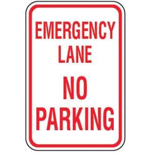 Parking Signs 12 x 18 No Parking Emergency Lane Sign Pro Property Supply