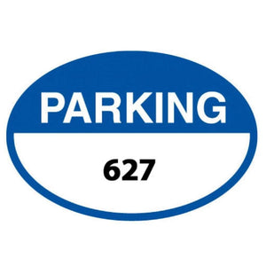 Parking Signs Blue Oval Parking Permits Front Adhesive Pro Property Supply