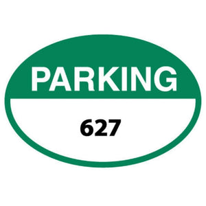 Parking Signs Green Oval Parking Permits  Front Adhesive Pro Property Supply