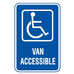 Parking Signs Handicapped Reserved Van Accessible Parking Sign with Symbol Pro Property Supply
