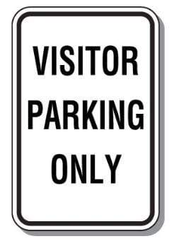Parking Signs Visitor Parking Only Sign - 12