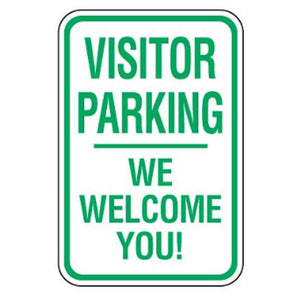 Parking Signs Visitor Parking - We Welcome You sign Pro Property Supply