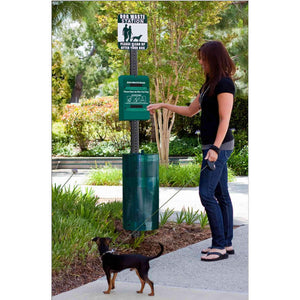 Pet Waste Solutions PRO Universal Fit Complete Dog Waste Station for Tie-Handle Roll Bags Pro Property Supply