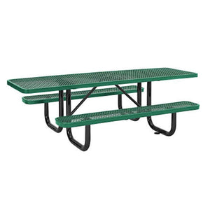 playground Green Rectangular 8ft. ADA Compliant Outdoor Picnic Table Pro Property Supply