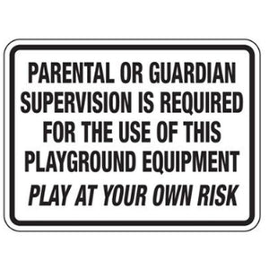 playground Parent or Guardian Supervision Required Sign Pro Property Supply