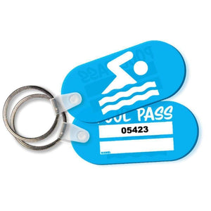 Pool Passes 10100-10199 Soft Vinyl Pool Pass Tag with Consecutive Numbers Oblong Design Pro Property Supply