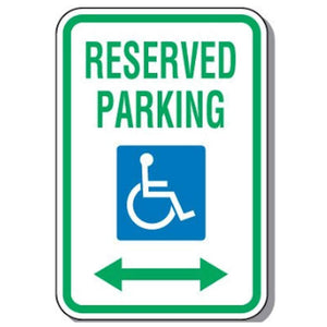 Reserved Parking Signs Handicapped Parking Sign - Reserved Parking (Double Arrow) Pro Property Supply