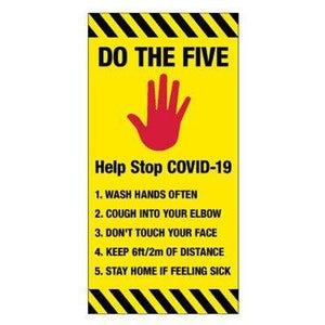 signs 5 Steps to Stay Safe  COVID-19 Giant Multi Placement Sign Pro Property Supply