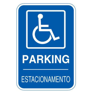 signs Bilingual Sign - Handicapped Parking Signs with Handicapped Symbol Pro Property Supply