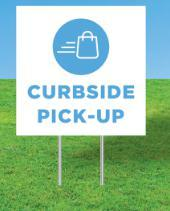 signs Curbside Pick-Up Yard Sign Kit Pro Property Supply