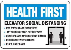 signs Elevator Social Distancing Sign Pro Property Supply