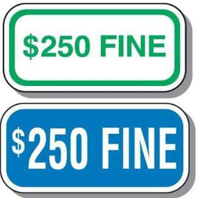 signs Handicap Add-On Parking Sign $250 Fine Pro Property Supply