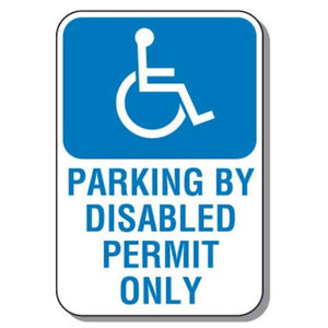 signs Handicapped Disabled Parking Sign - Parking By Disabled Permit Only Pro Property Supply