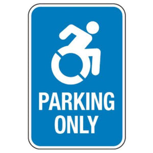 signs Handicapped Parking Only with Recognizable Symbol Pro Property Supply