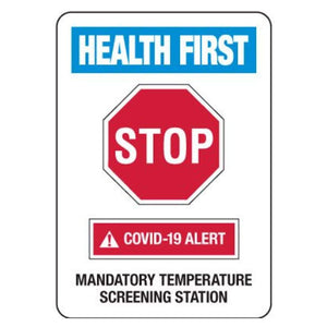 signs Mandatory Temperature Screening Station COVID-19 Signs Pro Property Supply