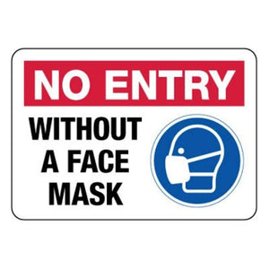 signs No Entry Without Face Covering Mask Sign Pro Property Supply