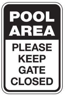signs Pool Area - Keep Gate Closed Sign Pro Property Supply