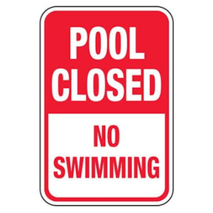 signs Pool Closed No Swimming Pro Property Supply