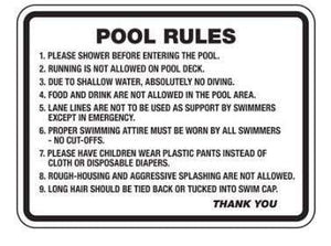 signs Pool Rules Sign Pro Property Supply